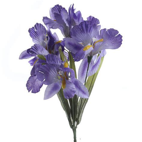 Purple Artificial Iris Spray Picks Sprays Floral