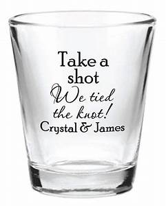 144 custom 15oz wedding favor glass shot glasses for Shot glasses wedding favors