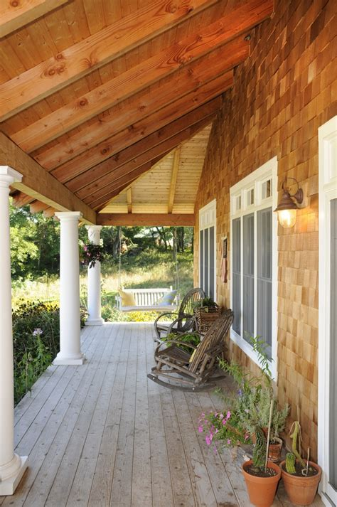 rustic porch covered porch rustic patio pinterest