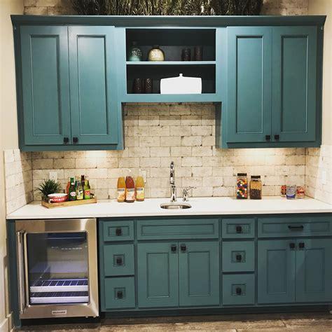 wet bar blue green cabinets taylorcraft cabinet door company