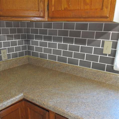 adhesive faux tile vinyl peel  stick tiles subway tile decorative  bathroom kitchen