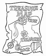 Coloring Pirate Pages Treasure Map Maps Printable Enjoycoloring sketch template
