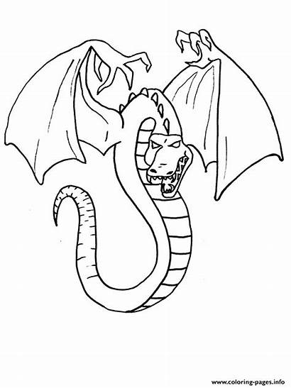 Coloring Dragon Evil Pages Printable