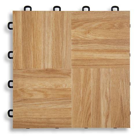 Interlocking Floor Tiles  Natural Oak Vinyl Top