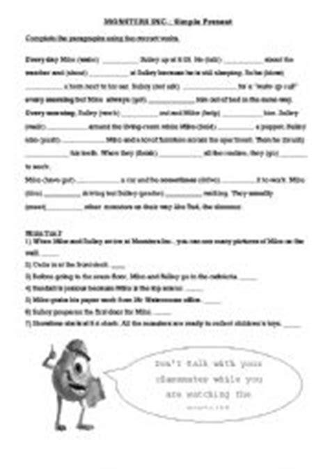 Monsters Inc Worksheets