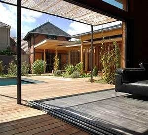 Baie à Galandage : maison en bois contemporaine maison avec baie vitr e ~ Melissatoandfro.com Idées de Décoration