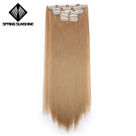 Spring Sunshine 22 140g Long Silky Straight 16clips In