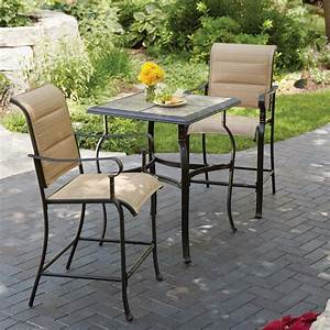 Bistro sets patio dining furniture the home depot outdoor for Home depot outdoor furniture 2017