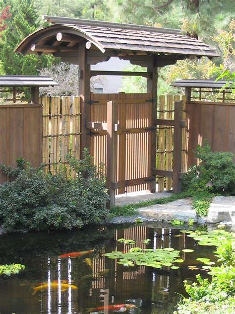 koi pond gate