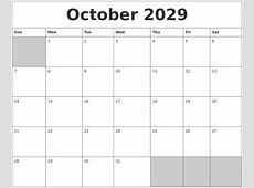 September 2029 Printable Blank Calendar