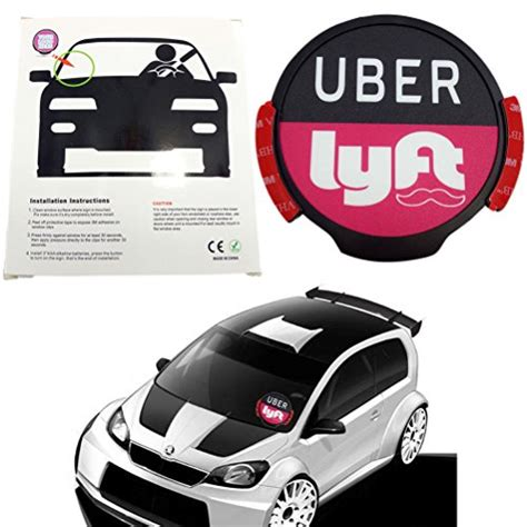 Uber Car Combo Sign Manual Lyft Led Light Sign Bright