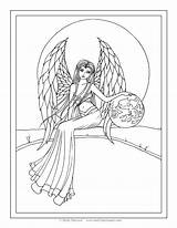 Coloring Angel Pages Molly Fantasy Adult Guardian Harrison Angels Printable Snow Books Coloriage Drawing Colorier Gratuit Fairy Fairies Getdrawings Garden sketch template