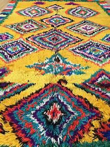 East Unique Vintage Moroccan Rug Tapis Berbere Azilal