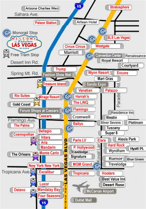 las vegas direct hotel map view hotels  location