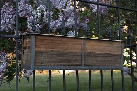 rail hanging planters railing planters for your garden custom by rushton llc