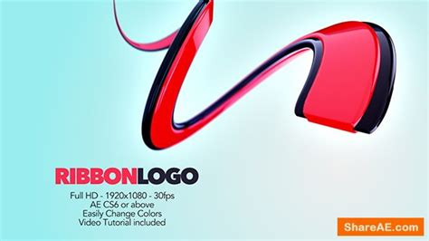 After Effects Templates Free Shared by Videohive Ribbon Logo 187 Free After Effects Templates