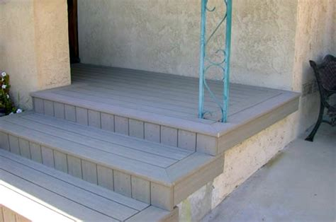 Installing Trex Decking Concrete by Composite Deck Composite Deck Concrete Patio
