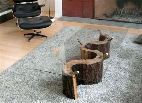 how to make tree stump coffee table homes furniture ideas