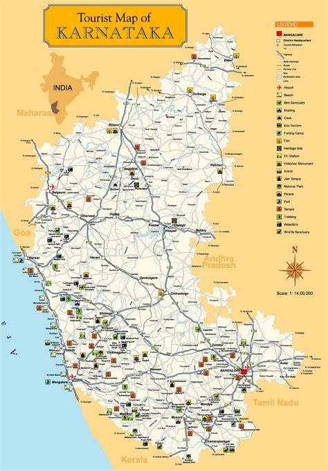 alemaari tourist map  karnataka
