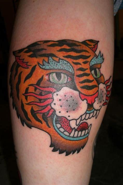 traditional tiger tattoojpg