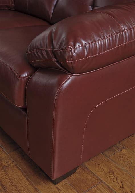 benchcraft  ashley bastrop   red leather