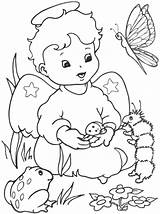 Coloring Angel Pages Angels Sheets Christmas sketch template