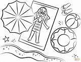 Coloring Beach Pages Fun Printable Sunset Print Summer Supercoloring Under sketch template