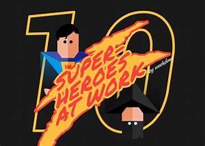10, Superheroes, At, Work