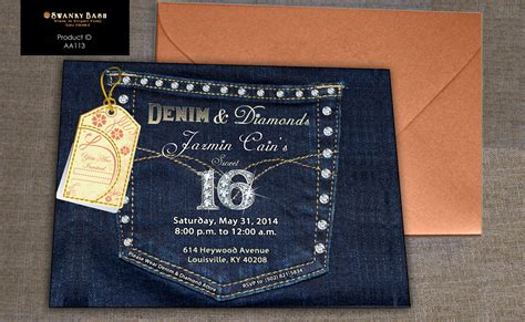 Denim And Diamonds Denim Pocket With Bling Custom By