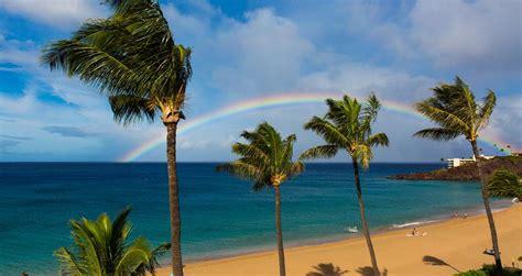 maui hawaii beach kaanapali beaches nude weather rainbow anapali ka travel rock lahaina hawaiian getty strendene verden beste bild famous