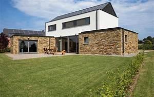 facade de maison en pierre et bois maison moderne With maison bois et pierre 1 pierres et terroir