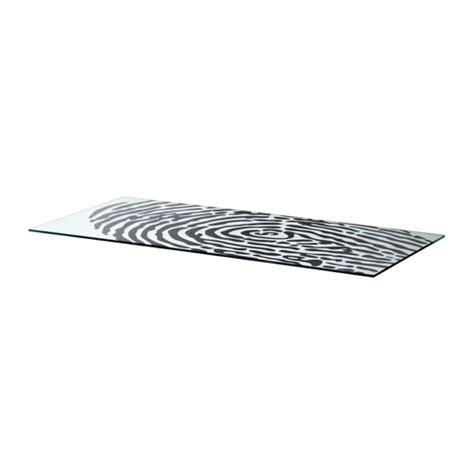 plateau pour bureau ikea glasholm plateau pour table verre motif empreinte