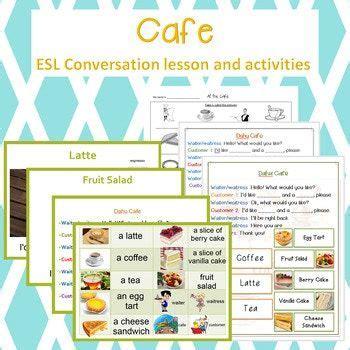 restaurant  cafe conversation lesson  activity