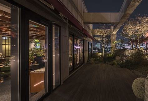 Striking Outdoor Lighting by Report Hotel Le M 233 Ridien Seoul