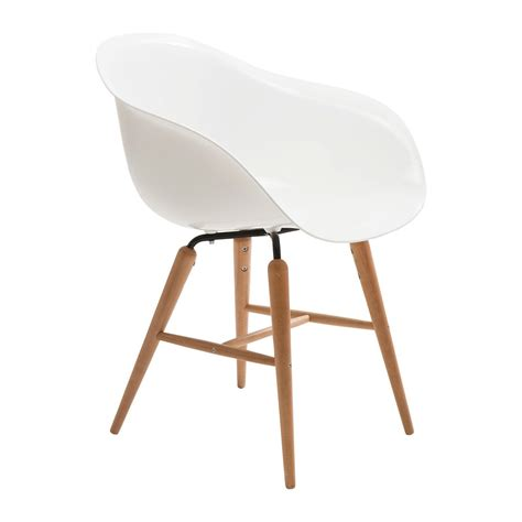 chaise avec accoudoirs chaise avec accoudoirs rétro blanche forum kare design