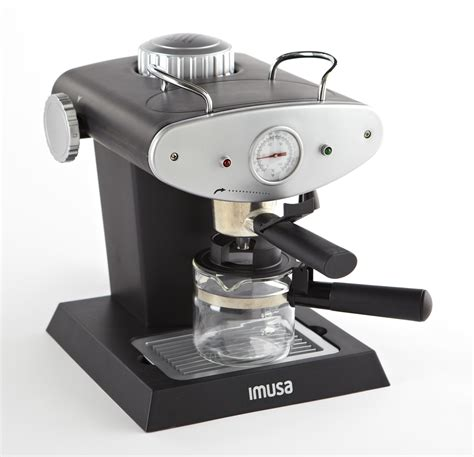You can have fresh espresso in minutes or you can create a homemade creamy cappuccino using the milk frothier! IMUSA IMUSA Electric Gourmet Espresso/Cappuccino Maker 4 Cup 800 Watts, Grey - IMUSA