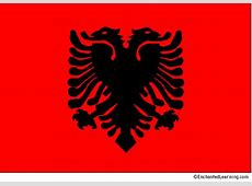 Flag of Albania EnchantedLearningcom