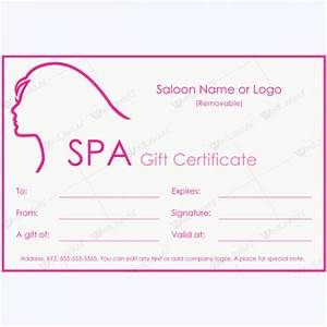 50 plus spa gift certificate designs to try this season With salon gift certificate template free download