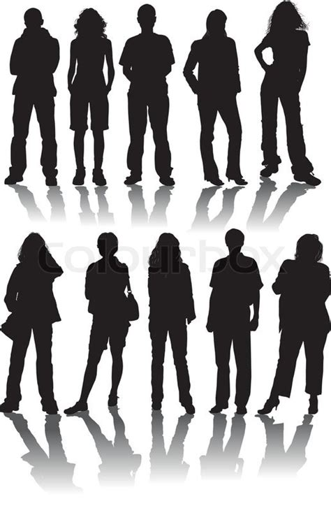 vector silhouettes man  women illustration stock