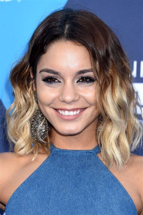 Vanessa Hudgens Short Ombre Hair 2014 Celebritiesinview