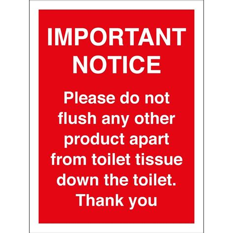 sign do not throw tissue just b cause
