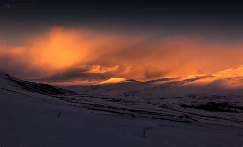 gallery iceland sunset mountains dystalgia aurel manea
