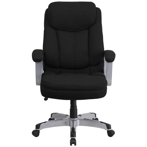 500 lb office chairs heavy duty 500 lb capacity big black fabric office