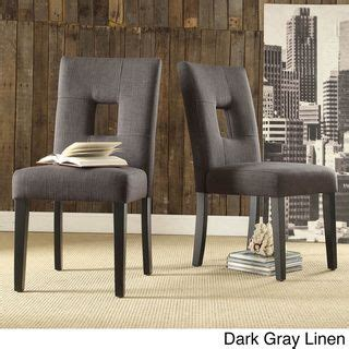 Tribecca Home Mendoza Keyhole Dining Chairs by Great Deals Shopping And Chairs On