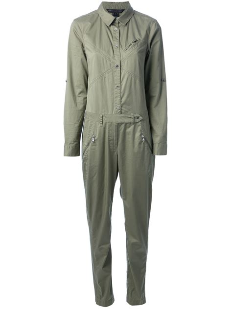 army jumpsuit marc by marc style jumpsuit in green lyst