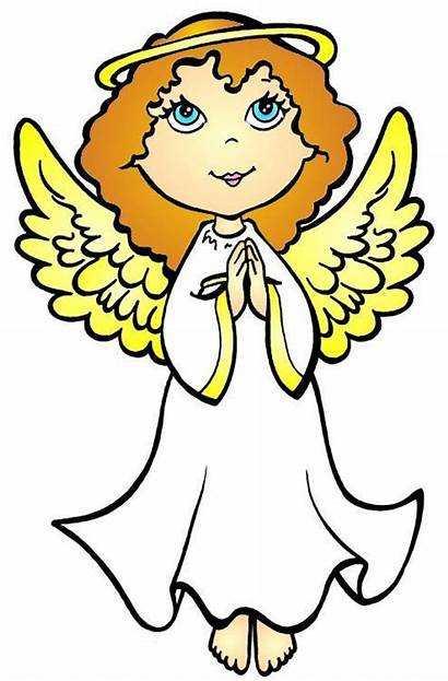 Angel Cartoon Clipart Angels Clip Wings Cliparts