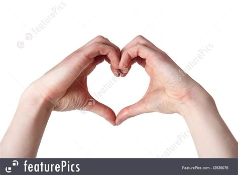 heart shaped hands photo