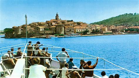 Ferry Boat Orebic Korcula by Arrival In Korcula By Ferry In 1970s