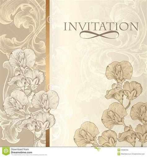 Elegant Invitation Card In Vintage Style Royalty Free