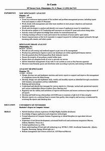 Specialist Analyst Resume Samples